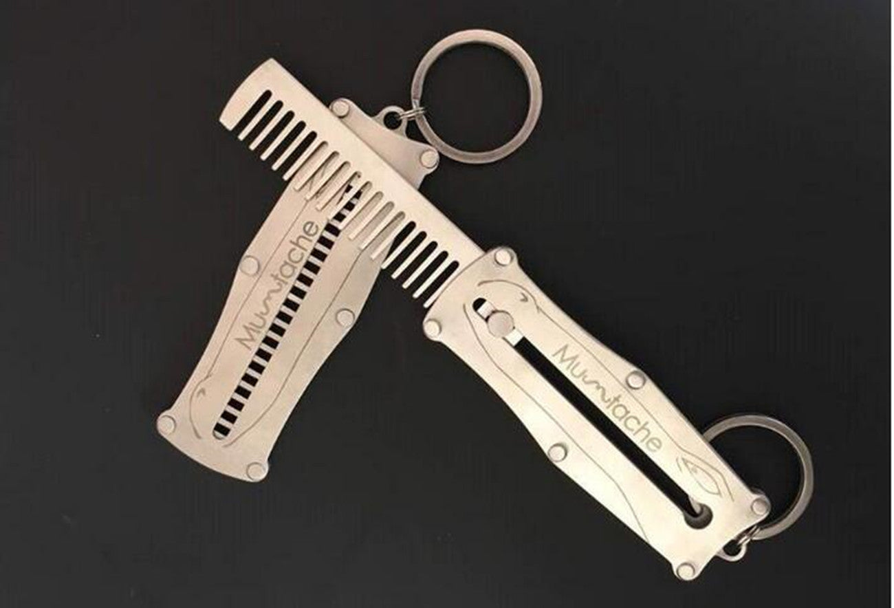 Anti Static, Stainless Steel Push Button, Key Ring Comb - KeepItPhresh.com
