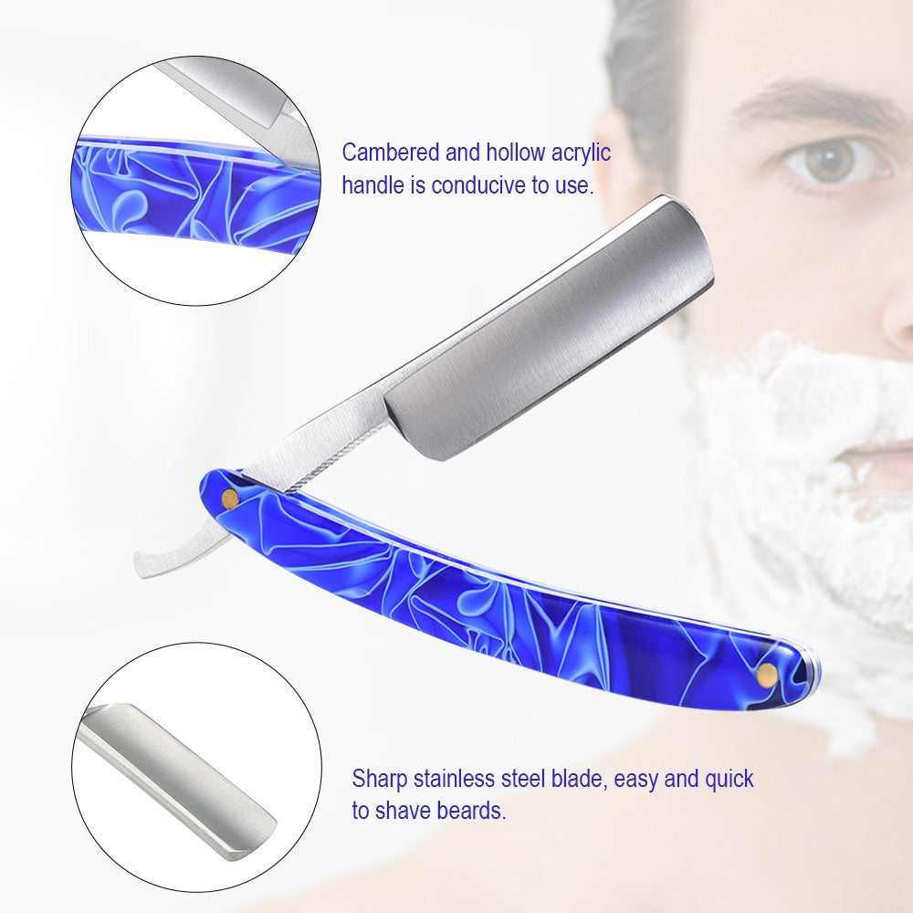 High Quality Acrylic Handle and Stainless Steel Straight Edge Barber Razor - KeepItPhresh.com
