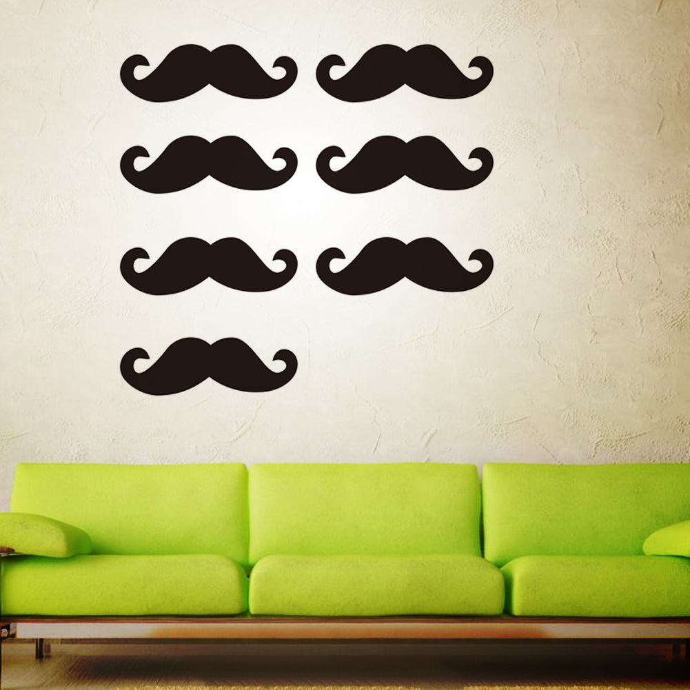3D Home Decor Mustache Wall Stickers