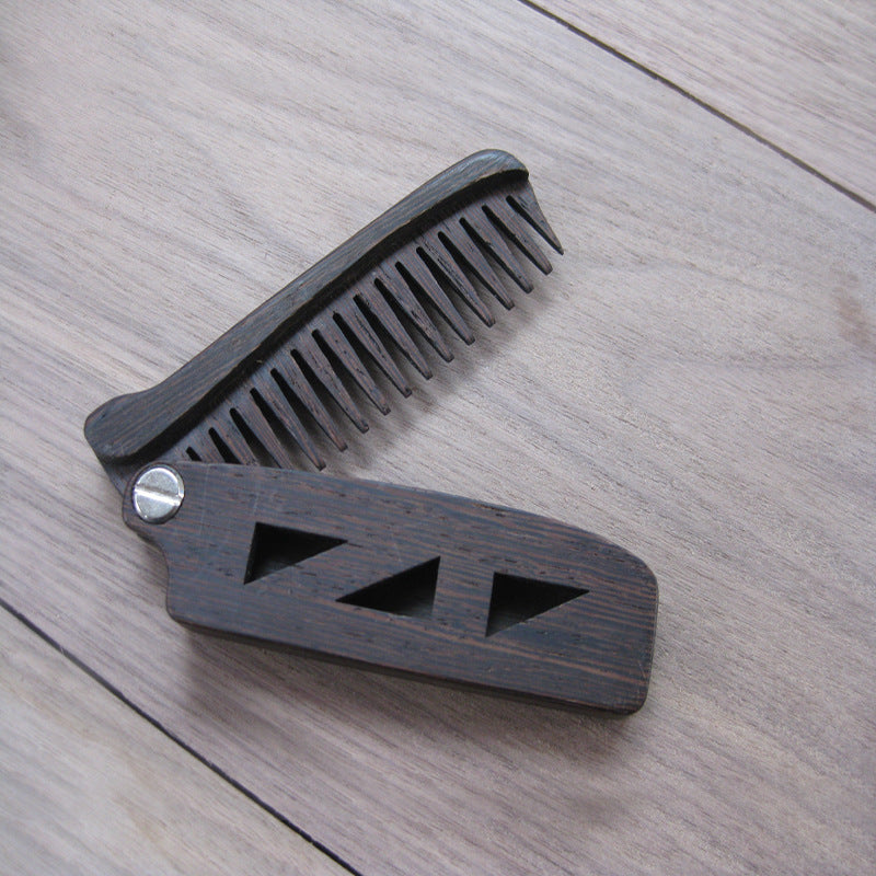 Anti Static Mini Wood Folding Comb - KeepItPhresh.com