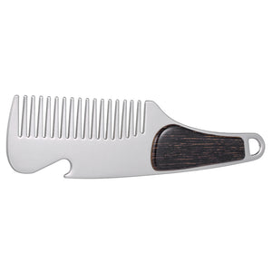 Stainless Steel Pocket Clip Beard Comb with Bottle Opener - KeepItPhresh.com