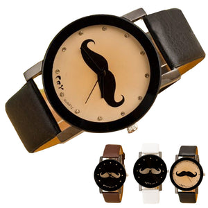 Imitation Leather Mustache Watch - KeepItPhresh.com