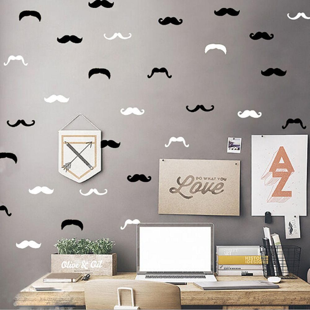 15 pcs Assorted Mustache Sticker Set - KeepItPhresh.com