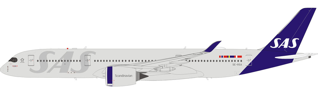 SAS Scandinavian Airlines Airbus A350-900 Flaps Down SE-RSA JC Wings JC2SAS369A XX2369A Scale 1:200
