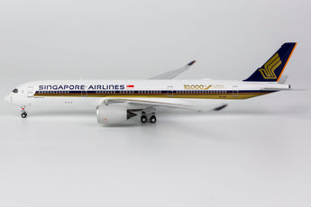 Singapore Airlines Airbus A350-900 9V-SMF 10,000th Airbus Aircraft NG Model 39009 Scale 1:400
