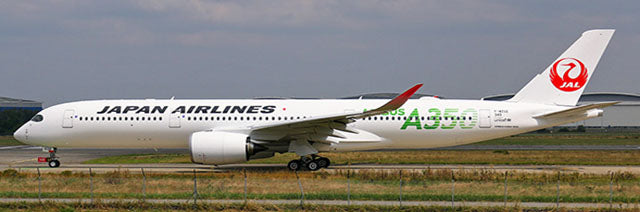 Japan Airlines Airbus A350-900 Flaps Down JA03XJ Green Titles JC Wings EW2359003A Scale 1:200