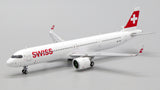 Swiss Airbus A321LR HB-JPA JC Wings EW421N007 Scale 1:400