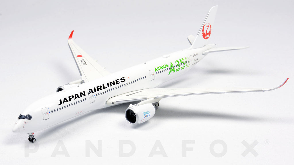 Japan Airlines Airbus A350-900 JA03XJ Green Titles JC Wings EW4359003 Scale 1:400