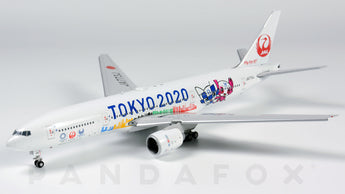 Japan Airlines Boeing 777-200ER Flaps Down JA773J Tokyo 2020 JC Wings EW4772012A Scale 1:400