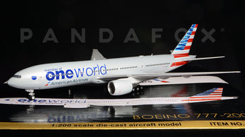 "American Airlines Boeing 777-200ER N796AN ""One World"" GeminiJets G2AAL526 Scale 1:200"