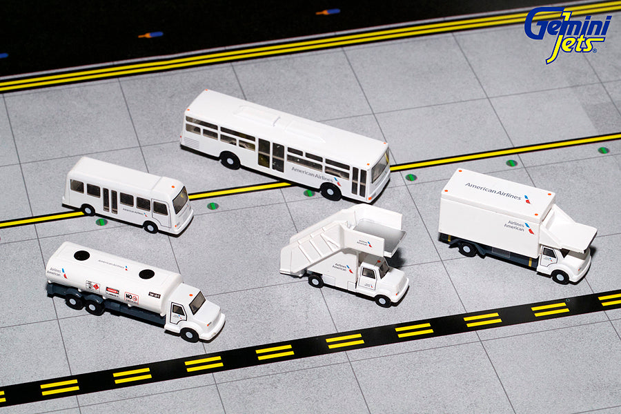 American Airlines Ground Service Equipment Trucks Set GeminiJets G2AAL721 Scale 1:200