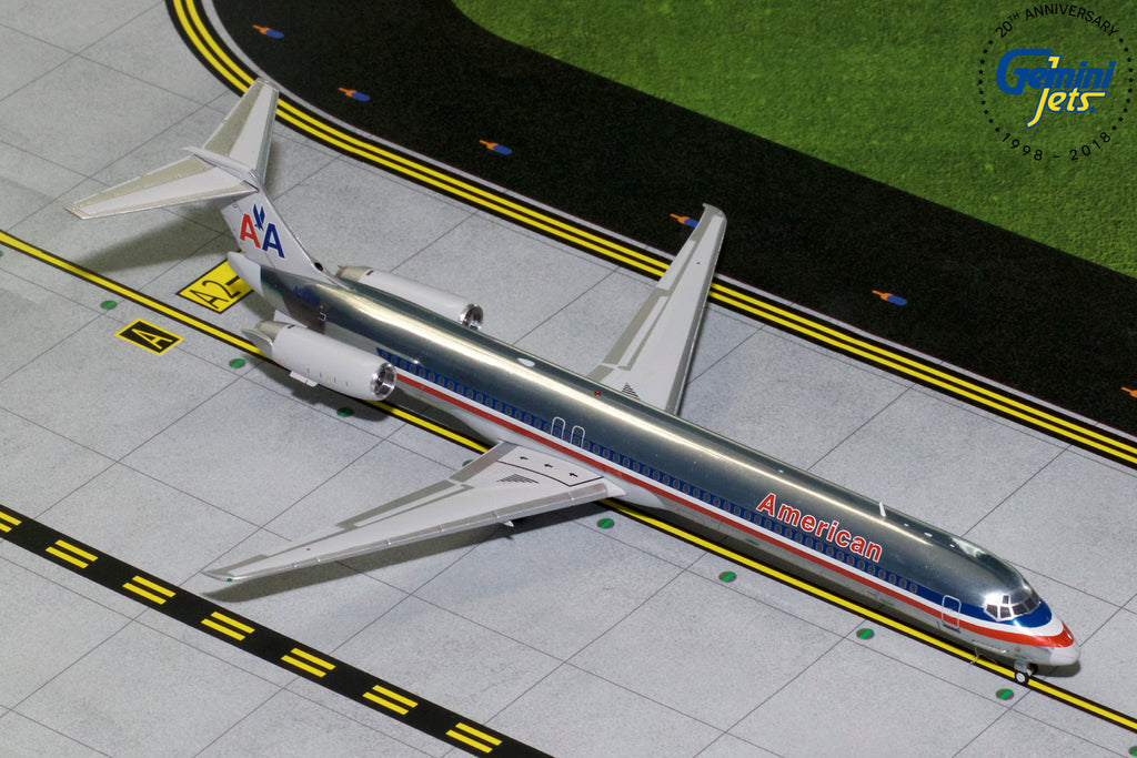 American Airlines MD-83 N9621A GeminiJets G2AAL760 Scale 1:200