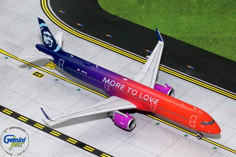 Alaska Airlines Airbus A321neo N927VA More to Love GeminiJets G2ASA739 Scale 1:200