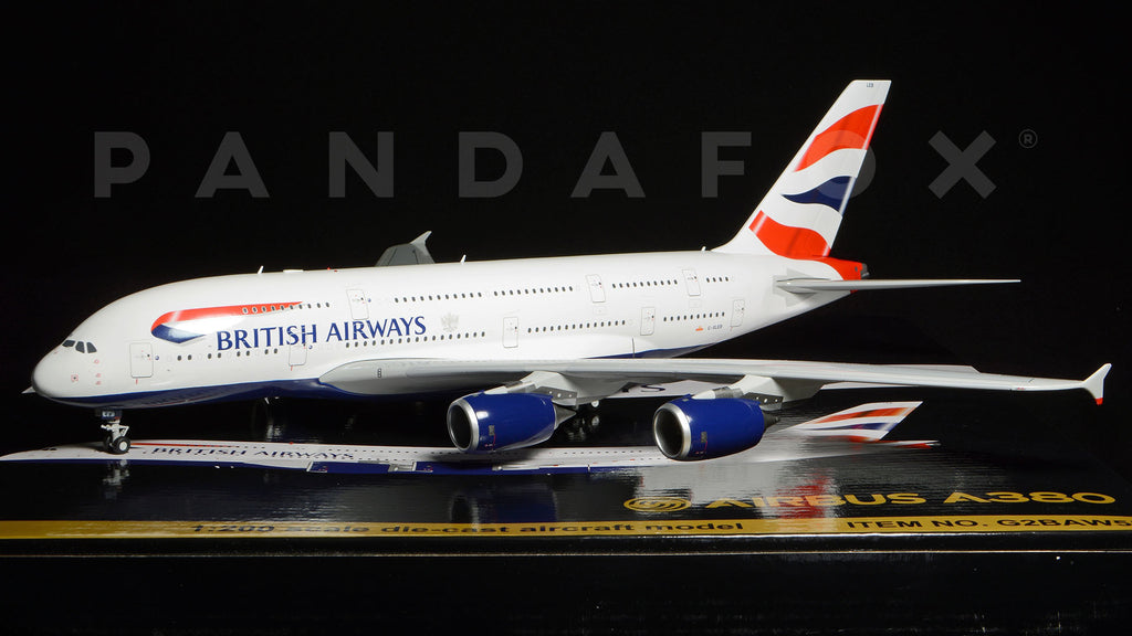 British Airways Airbus A380 G-XLEB GeminiJets G2BAW558 Scale 1:200