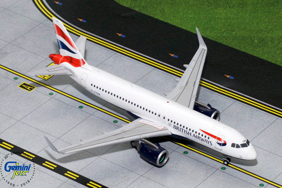 British Airways Airbus A320neo G-TTNA GeminiJets G2BAW755 Scale 1:200