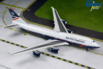 British Airways Boeing 747-400 G-BNLY Landor Retro Livery GeminiJets G2BAW840 Scale 1:200