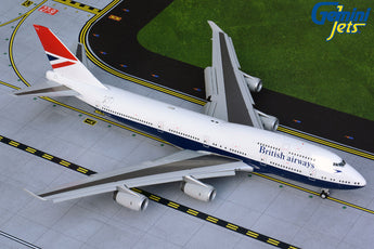 British Airways Boeing 747-400 Flaps Down G-CIVB Negus Retro Livery GeminiJets G2BAW841F Scale 1:200