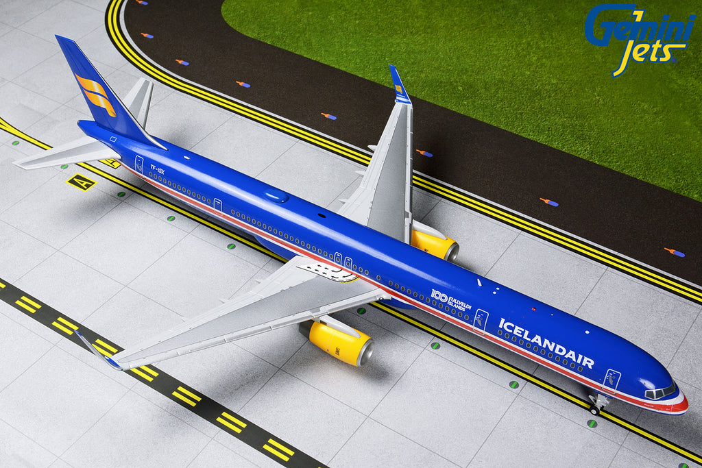 Icelandair Boeing 757-300 TF-ISX 100 Years Iceland Independence GeminiJets G2ICE786 Scale 1:200