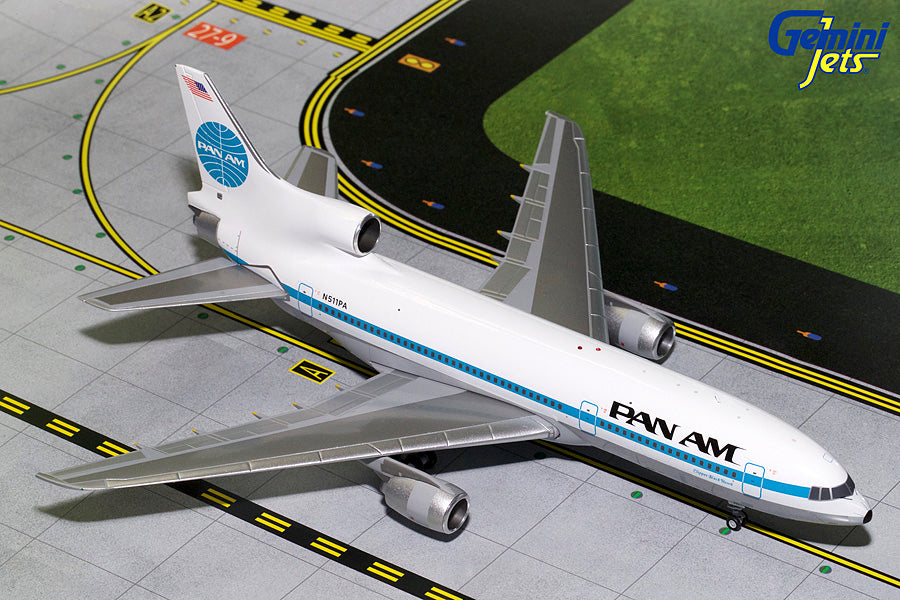 Pan Am Lockheed L-1011-500 N511PA Clipper Black Hawk GeminiJets G2PAA690 Scale 1:200