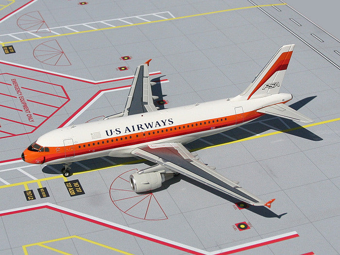 "US Airways Airbus A319 N742PS ""PSA Heritage"" GeminiJets G2PSA001 Scale 1:200"