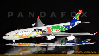 "South African Airways Airbus A340-300 ZS-SXD ""Olympic Livery"" GeminiJets G2SAA378 Scale 1:200"