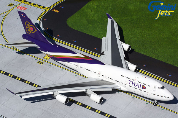 Thai Airways Boeing 747-400 Flaps Down HS-TGP GeminiJets G2THA866F Scale 1:200