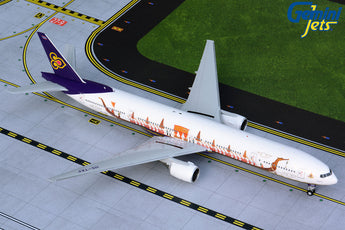 Thai Airways Boeing 777-300 HS-TKF Royal Barge GeminiJets G2THA875 Scale 1:200