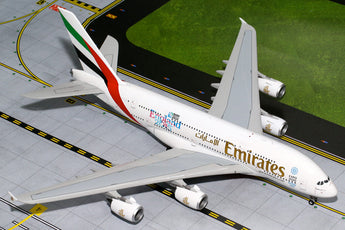 "Emirates Airbus A380 A6-EEN ""England Rugby World Cup"" GeminiJets G2UAE565 Scale 1:200"
