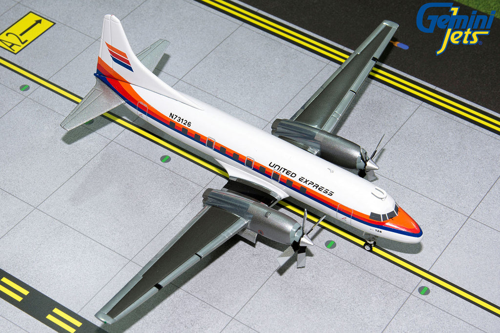 United Express Convair 580 N73126 Saul Bass livery GeminiJets G2UAL318 Scale 1:200