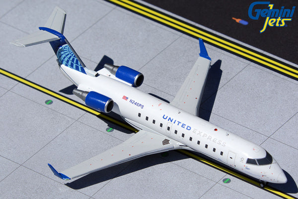 United Express Bombardier CRJ200LR N246PS GeminiJets G2UAL958 Scale 1:200