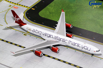 Virgin Atlantic Airbus A340-600 G-VNAP A Big Thank You GeminiJets G2VIR732 Scale 1:200