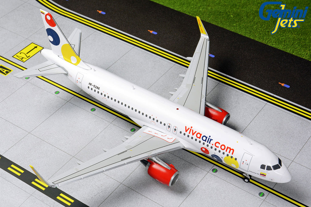 Viva Air Colombia Airbus A320 HK-5286 GeminiJets G2VVC822 Scale 1:200