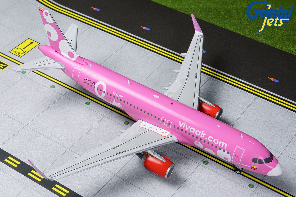 Viva Air Colombia Airbus A320 HK-5273 Pink Livery GeminiJets G2VVC823 Scale 1:200