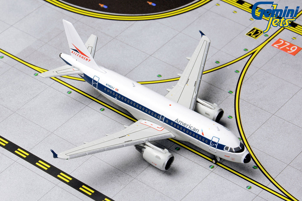 American Airlines Airbus A319 N745VJ Allegheny livery GeminiJets GJAAL1133 Scale 1:400