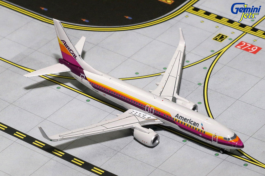 "American Airlines Boeing 737-800 N917NN ""AirCal Retro Livery"" GeminiJets GJAAL1515 Scale 1:400"