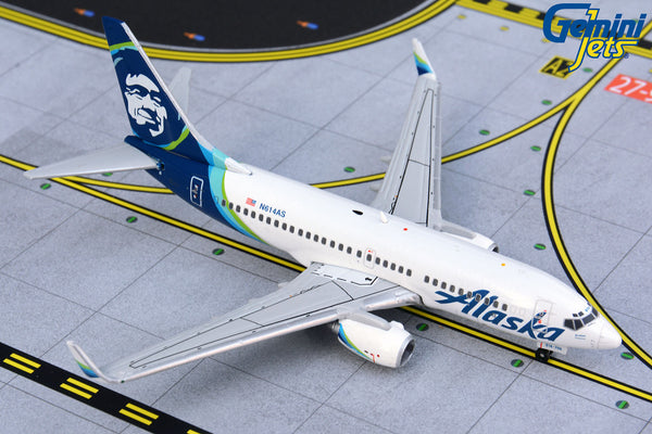 Alaska Airlines Boeing 737-700 N614AS GeminiJets GJASA1871 Scale 1:400