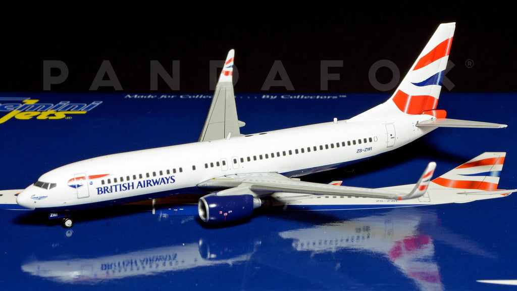 British Airways Boeing 737-800 ZS-ZWI GeminiJets GJBAW1335 Scale 1:400