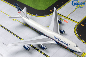 British Airways Boeing 747-400 G-BNLY Landor Retro Livery GeminiJets GJBAW1857 Scale 1:400