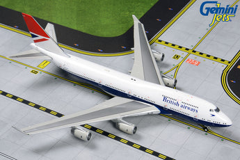 British Airways Boeing 747-400 G-CIVB Negus Retro Livery GeminiJets GJBAW1858 Scale 1:400