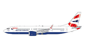British Airways Boeing 737 MAX 8 GeminiJets GJBAW1876 Scale 1:400