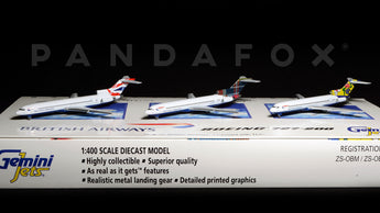 British Airways Boeing 727-200 Set of 3 GeminiJets GJBAWSET3 Scale 1:400