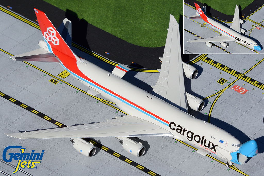 Cargolux Boeing 747-8F Interactive LX-VCF Not Without My Mask GeminiJets GJCLX1954 Scale 1:400