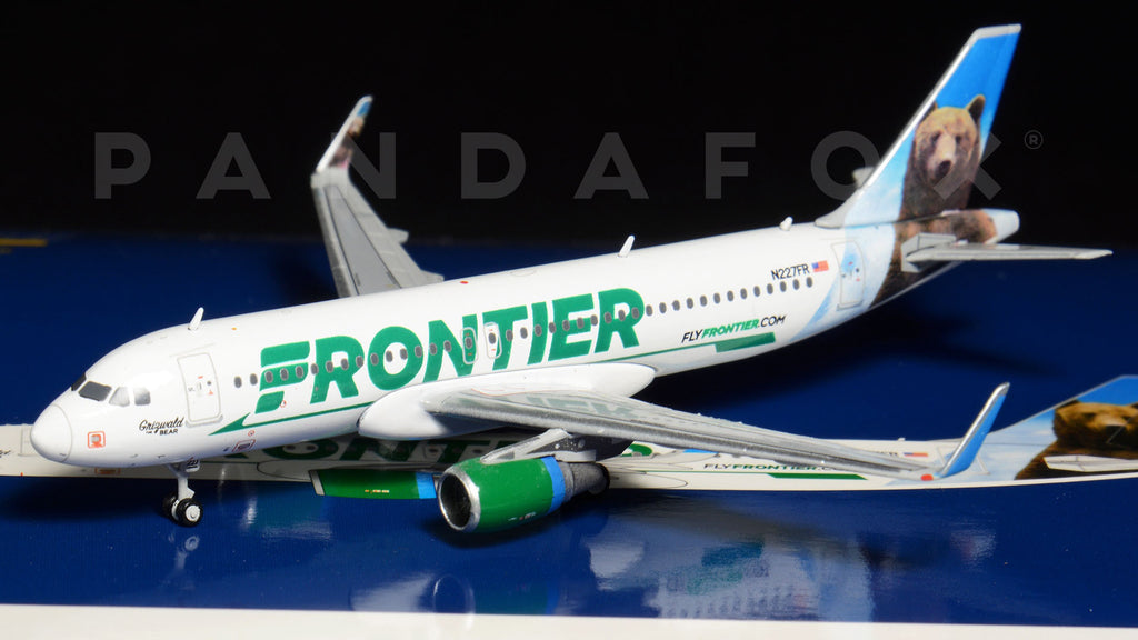 "Frontier Airlines Airbus A320 N227FR ""Griswald the Bear"" GeminiJets GJFFT1576 Scale 1:400"