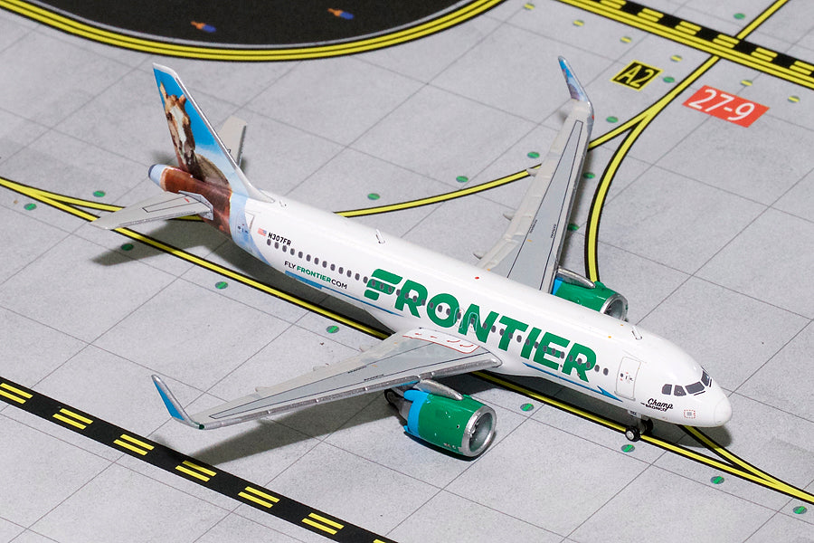"Frontier Airbus A320neo N307FR ""Champ the Bronco"" GeminiJets GJFFT1617 Scale 1:400"
