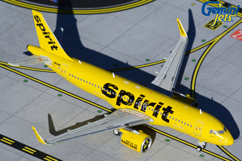 Spirit Airbus A320neo N902NK GeminiJets GJNKS1612 Scale 1:400