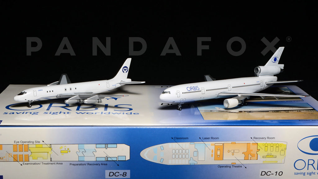 Orbis DC-8-21, DC-10-10 Set of 2 GeminiJets GJORB238 Scale 1:400