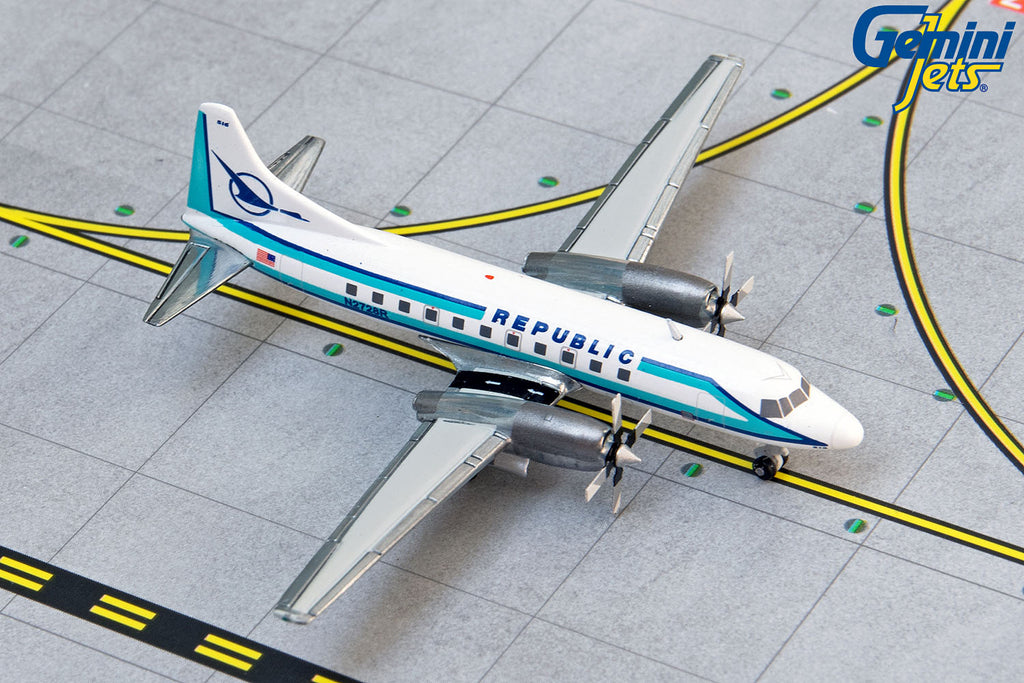 Republic Airlines Convair 580 N2728R GeminiJets GJREP1407 Scale 1:400