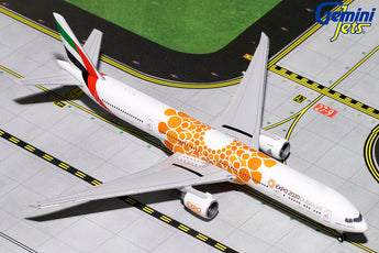 Emirates Boeing 777-300ER A6-EPO Expo 2020 Orange GeminiJets GJUAE1816 Scale 1:400