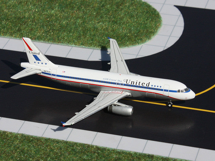 "United Airbus A320 N475UA ""Stars and Bars"" GeminiJets GJUAL1061 Scale 1:400"