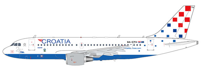 Croatia Airlines Airbus A319 9A-CTH 25 Years Godina JC Wings JC2CTN144 XX2144 Scale 1:200